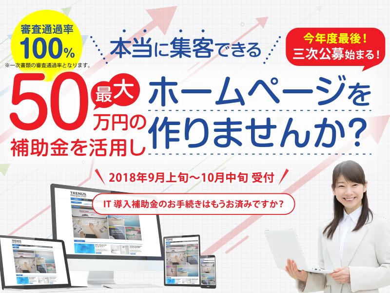 最大50万円の補助!IT導入補助金でホームページをリニューアルしませんか?